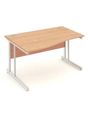 Impulse Cantilever Left Hand Wave Desk Beech