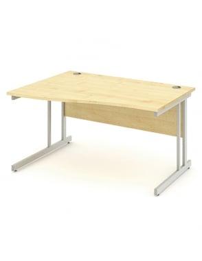 Impulse Cantilever Left Hand Wave Desk Maple