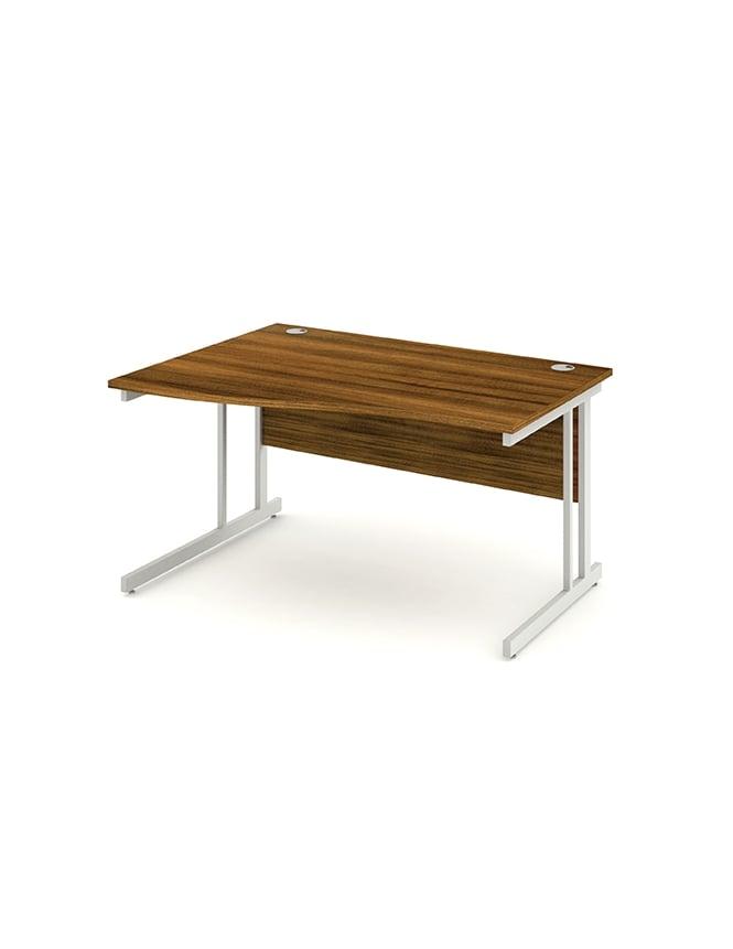 Dynamic Furniture Impulse Cantilever Left Hand Wave Desk Walnut