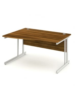 Impulse Cantilever Left Hand Wave Desk Walnut