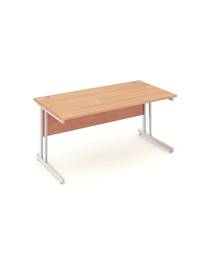 Dynamic Furniture Impulse Cantilever Rectangle Desk Beech
