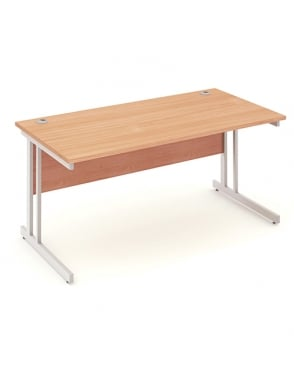 Impulse Cantilever Rectangle Desk Beech