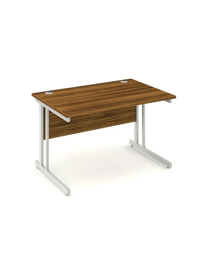 Dynamic Furniture Impulse Cantilever Rectangle Desk Walnut