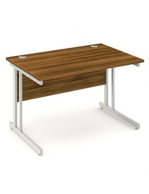 Impulse Cantilever Rectangle Desk Walnut