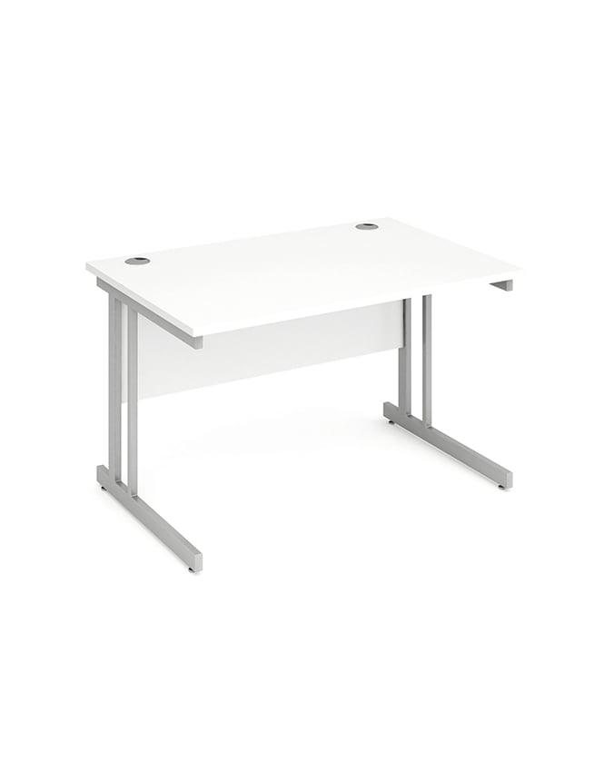 Dynamic Furniture Impulse Cantilever Rectangle Desk White