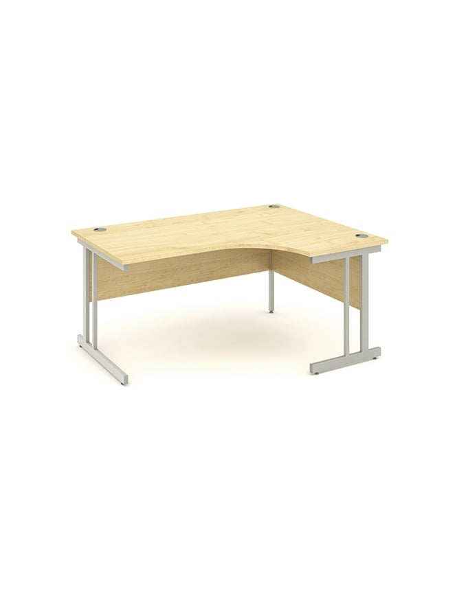 Dynamic Furniture Impulse Cantilever Right Hand Crescent Desk Maple