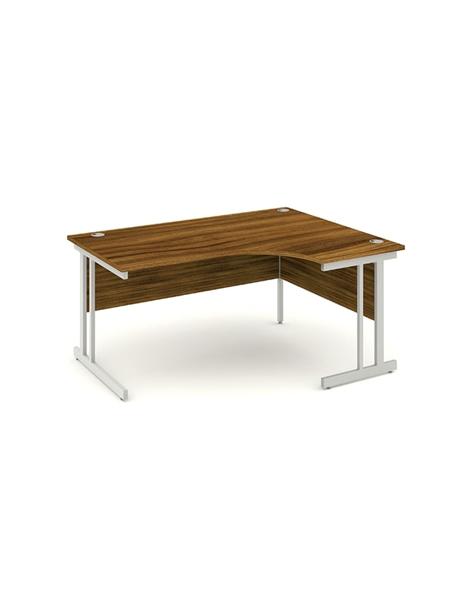 Dynamic Furniture Impulse Cantilever Right Hand Crescent Desk Walnut