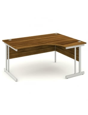 Impulse Cantilever Right Hand Crescent Desk Walnut