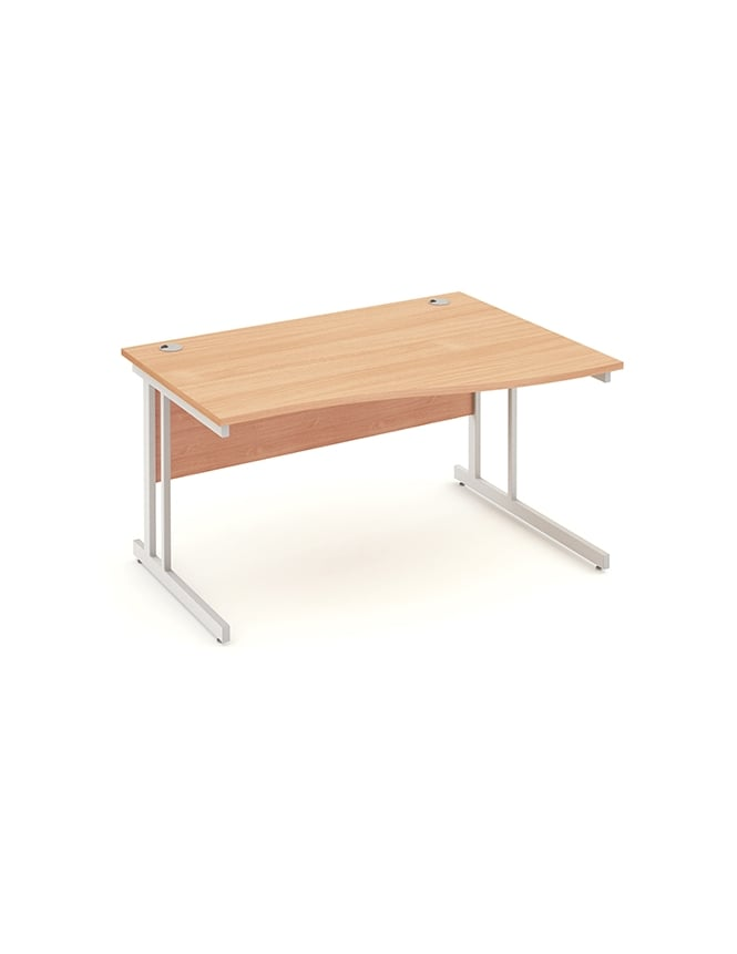 Dynamic Furniture Impulse Cantilever Right Hand Wave Desk Beech