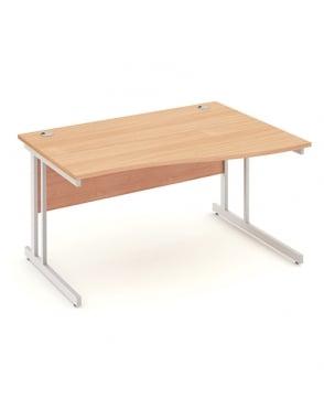 Impulse Cantilever Right Hand Wave Desk Beech