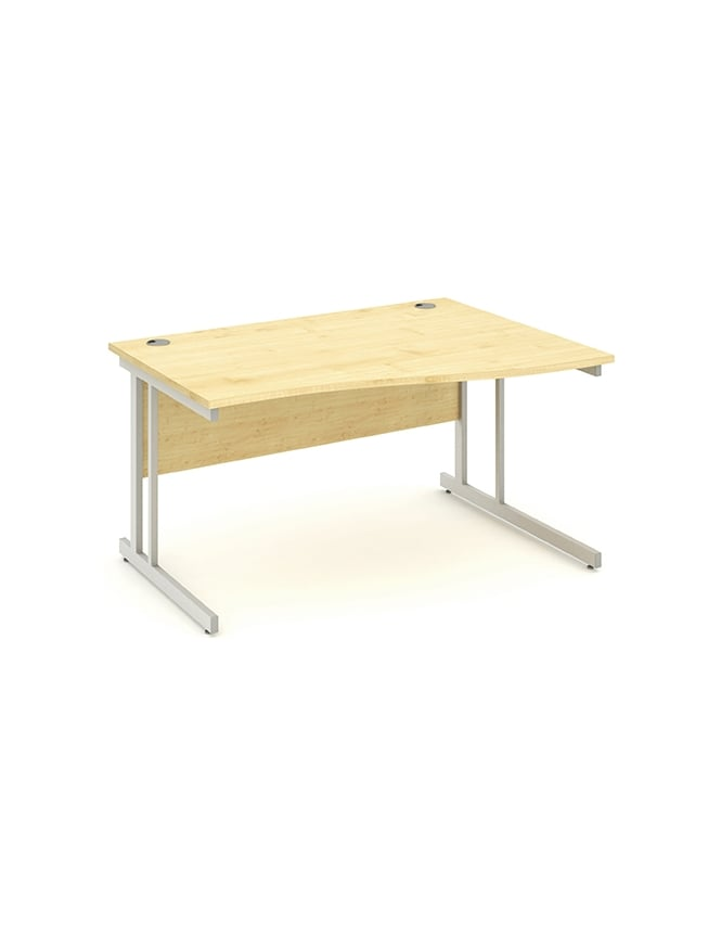 Dynamic Furniture Impulse Cantilever Right Hand Wave Desk Maple
