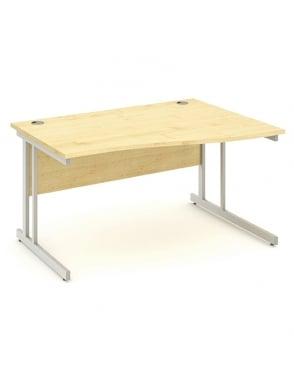 Impulse Cantilever Right Hand Wave Desk Maple