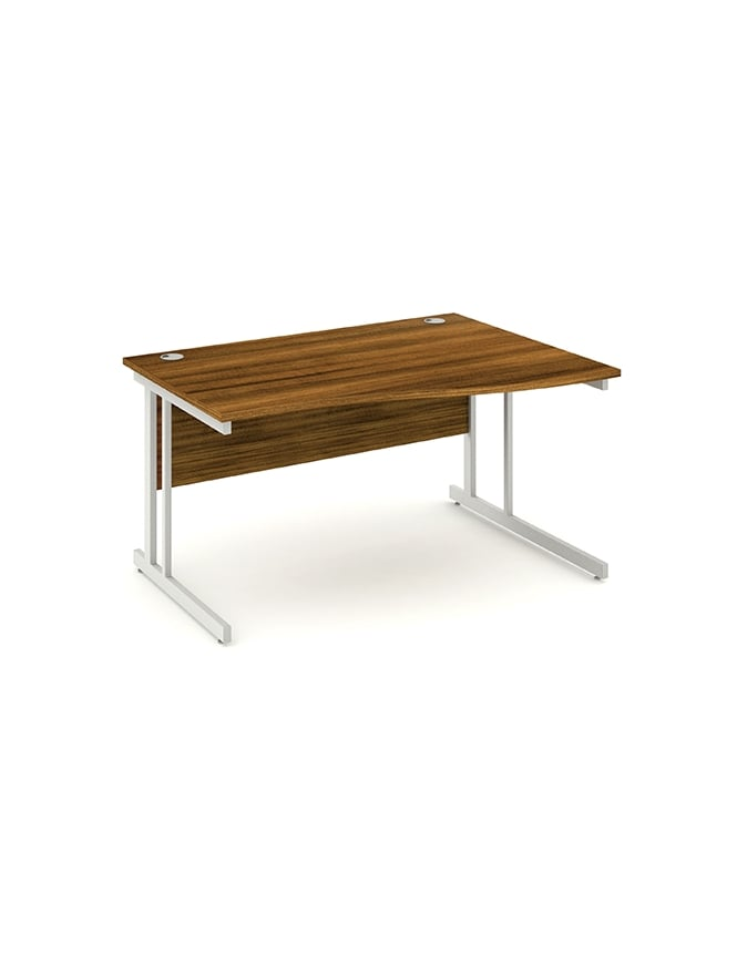 Dynamic Furniture Impulse Cantilever Right Hand Wave Desk Walnut
