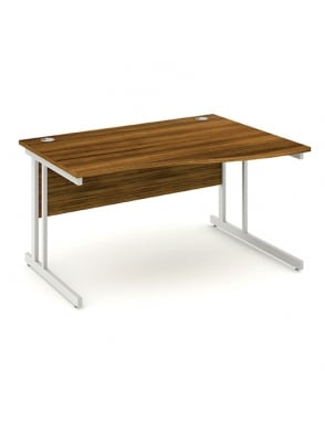 Impulse Cantilever Right Hand Wave Desk Walnut