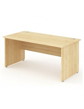 Impulse Panel End Rectangle Desk Maple