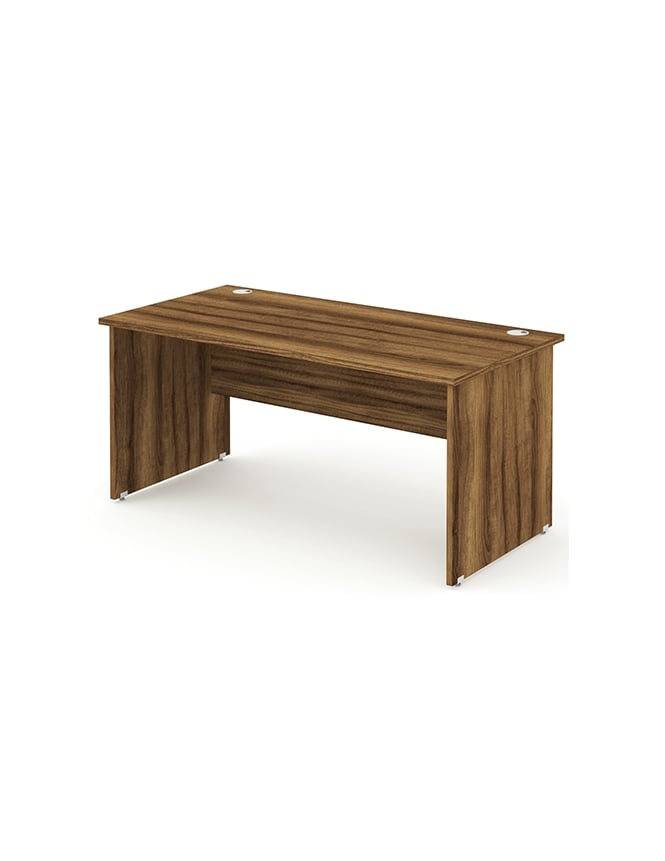Dynamic Furniture Impulse Panel End Rectangle Desk Walnut