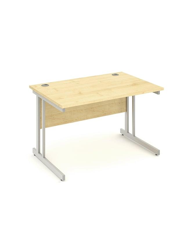 Dynamic Furniture Impulse Rectangle Cantilever Leg Desk Maple