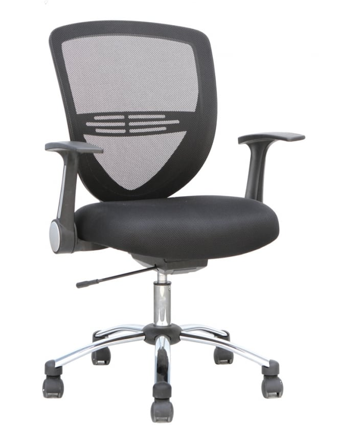 Dynamic Furniture Iris Task Operator Black Fabric Chair