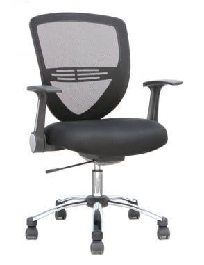 Iris Task Operator Black Fabric Chair