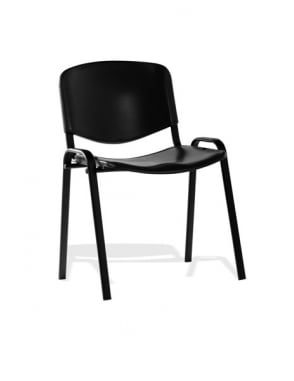 ISO Stacking Black Poly Black Frame Chair