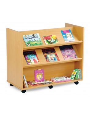 Library Unit with 2 Angled & 1 Horizontal Shelf
