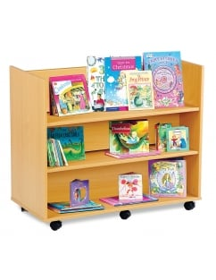 Library Unit with 3 Horizontal Shelves Each Side