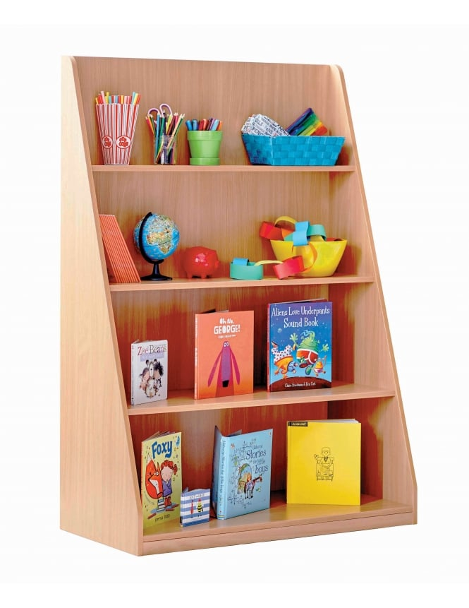 Monarch Furniture Library Unit with 4 Fixed Straight Shelves