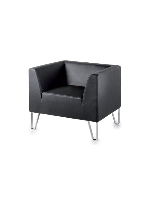 Dams Linear Faux Leather Reception Seating