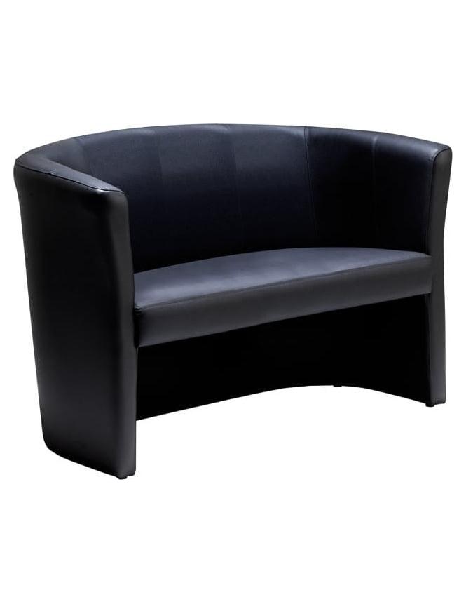 Dams London Reception Leather 2 Seater Sofa