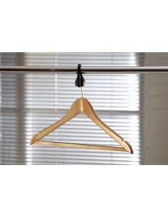 Lotus Wooden Anti-theft Suit Hangers + SCB Collar - 100 Pack