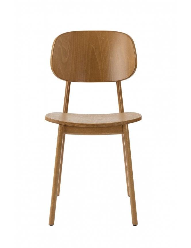 Tabilo Lunar Dining Chair Oak with Veneer Seat