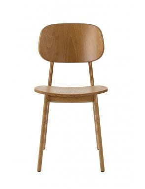 Lunar Dining Chair Oak with Veneer Seat