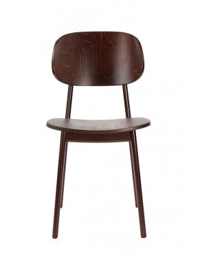 Lunar Dining Chair Walnut with Veneer Seat