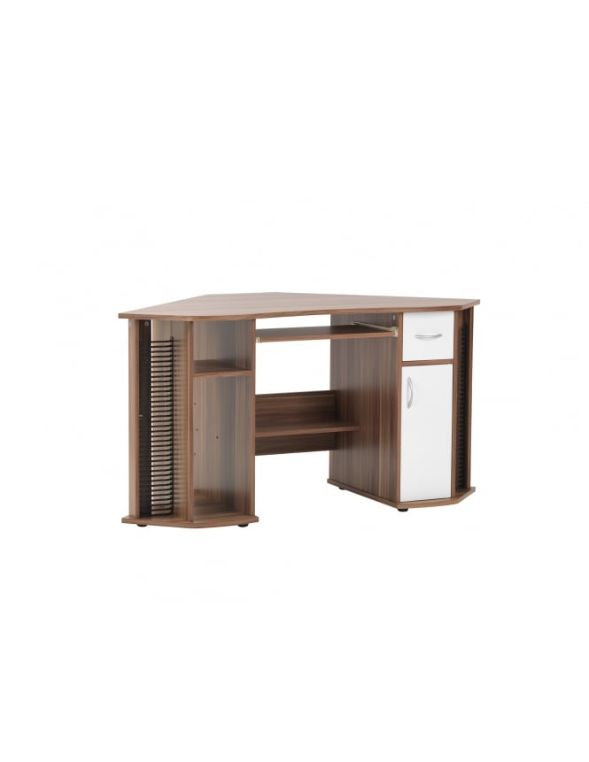 Alphason Lyndon French Walnut Effect Corner Desk
