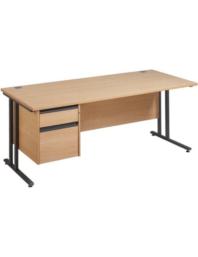 Dams Maestro 25 GL Cantilever Desk with 2 Drawer Pedestal