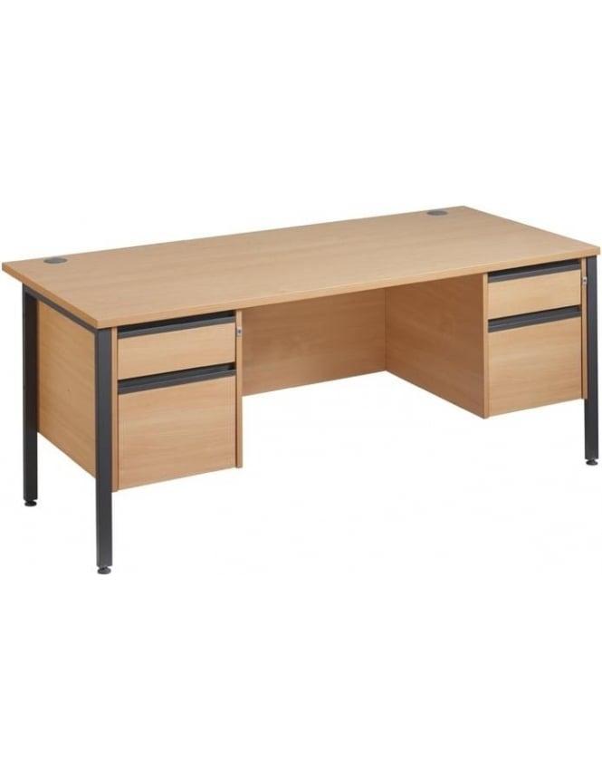 Dams Maestro 25 GL Desk with 2, 2 Drawer Pedestals