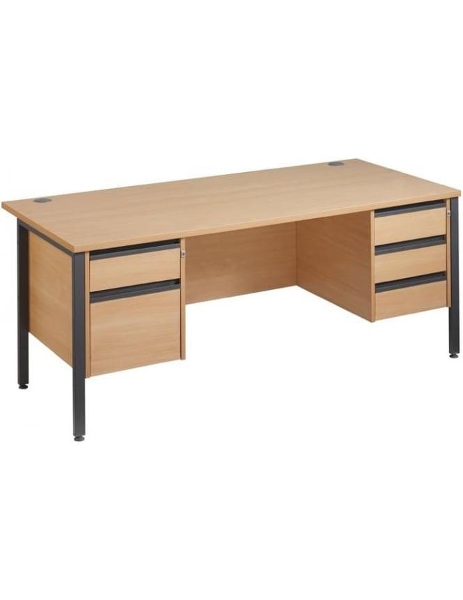Dams Maestro 25 GL Desk with 2 & 3 Drawer Pedestals