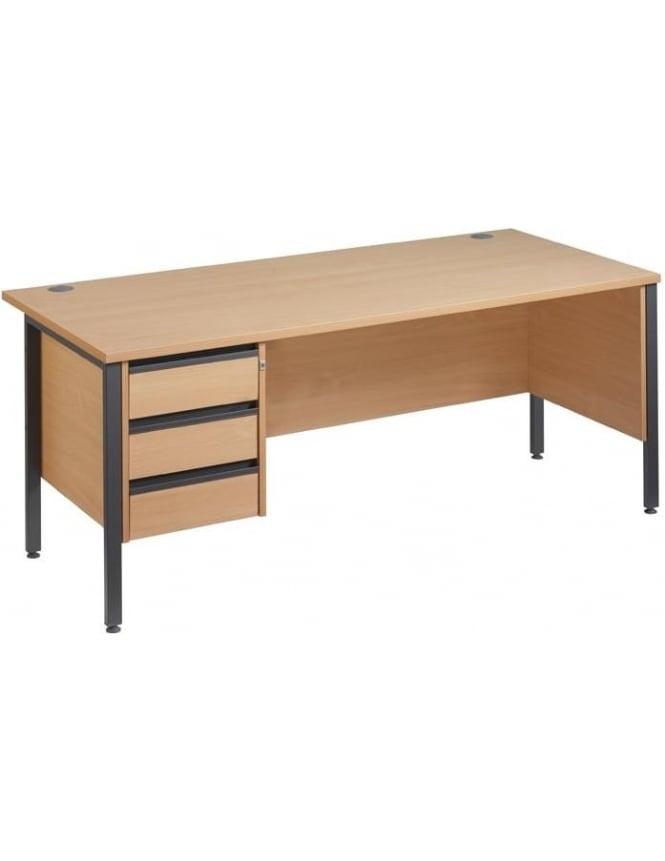 Dams Maestro 25 GL Desk with 3 Drawer Pedestal