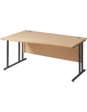 Maestro 25 GL Left Hand Wave Desk