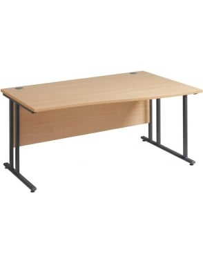 Maestro 25 GL Right Hand Wave Desk