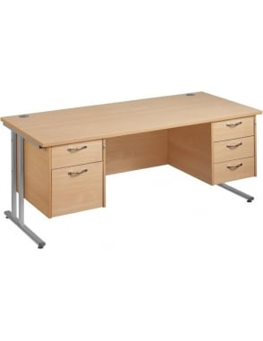 Maestro 25 SL Cantilever Desk with 2 & 3 Drawer Pedestal