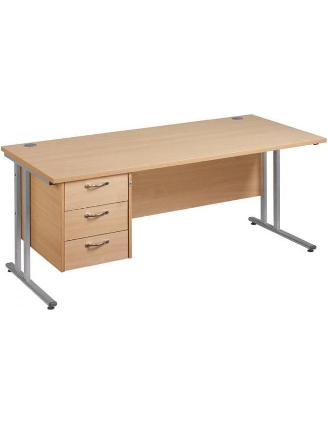 Dams Maestro 25 SL Cantilever Desk with 3 Drawer Pedestal