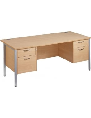 Maestro 25 SL Desk with 2, 2 Drawer Pedestals