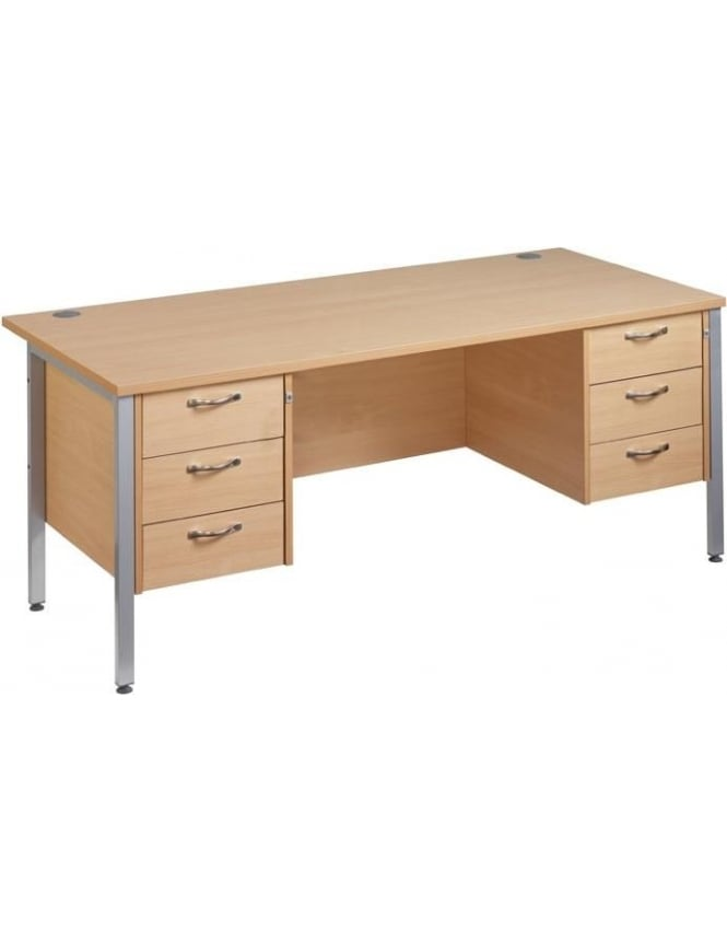 Dams Maestro 25 SL Desk with 2, 3 Drawer Pedestals