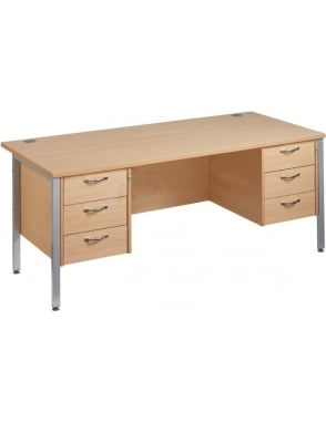 Maestro 25 SL Desk with 2, 3 Drawer Pedestals