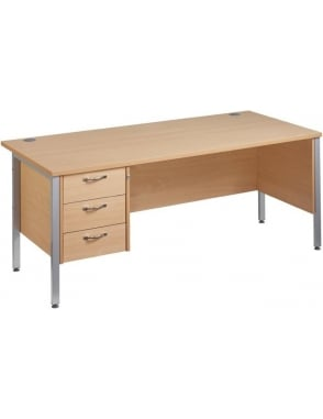 Maestro 25 SL Desk with 3 Drawer Pedestal