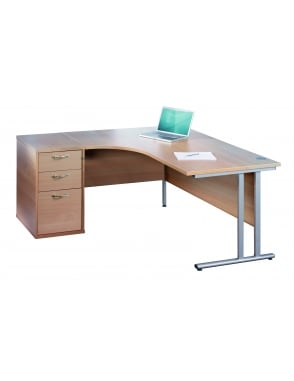 Maestro 25 SL Right Hand Ergonomic Desk with Desk High Pedestal