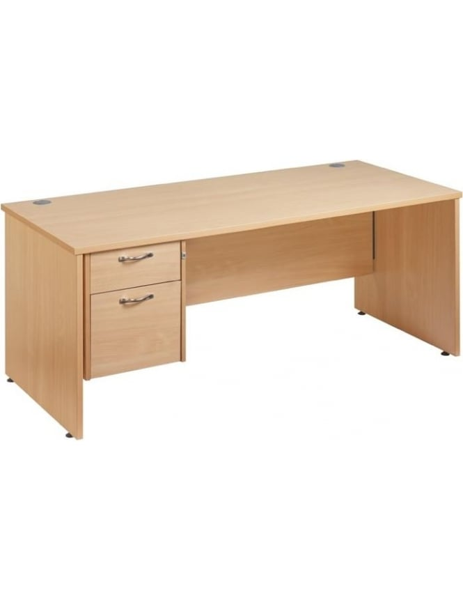 Dams Maestro 25 Straight Panel Desk with 2 Drawer Pedestal