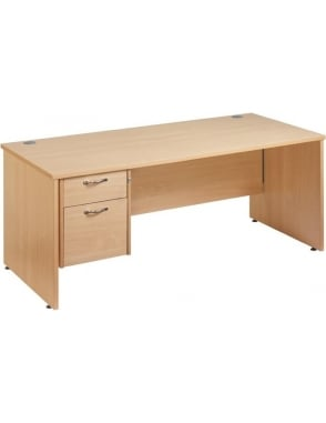 Maestro 25 Straight Panel Desk with 2 Drawer Pedestal