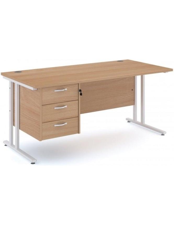Dams Maestro 25 WL Cantilever Desk with 3 Drawer Pedestal